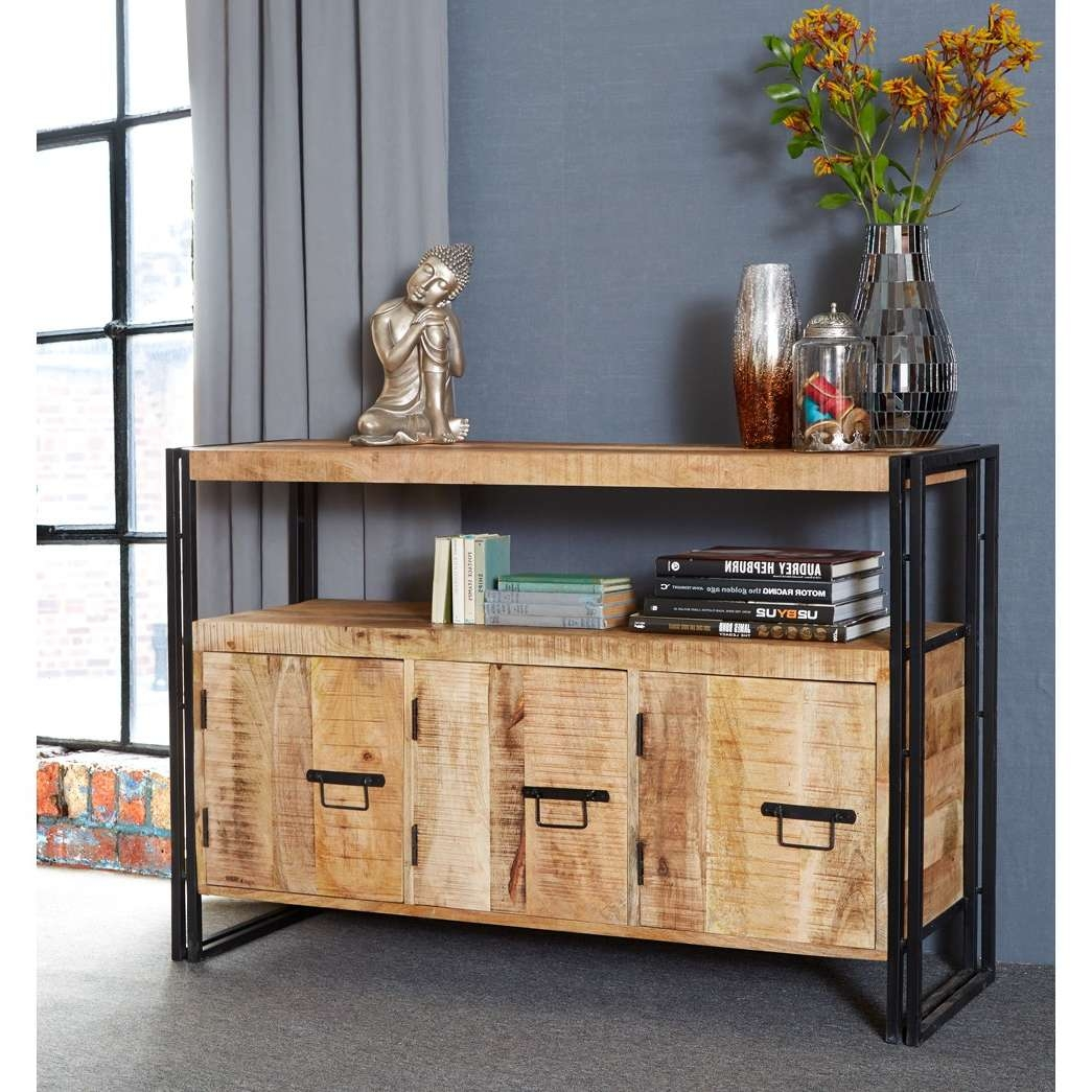 Cosmo Industrial Sideboard With 3 Doors Regarding Industrial Sideboards (View 5 of 20)