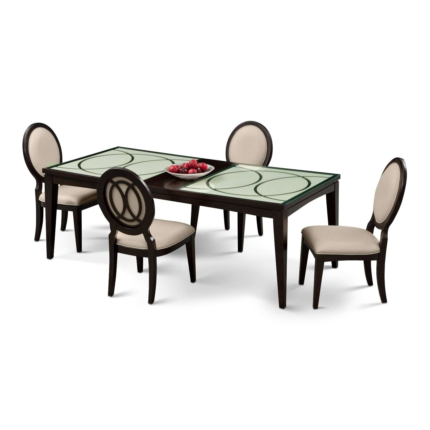 Cosmo Table And 4 Chairs – Merlot (View 11 of 20)