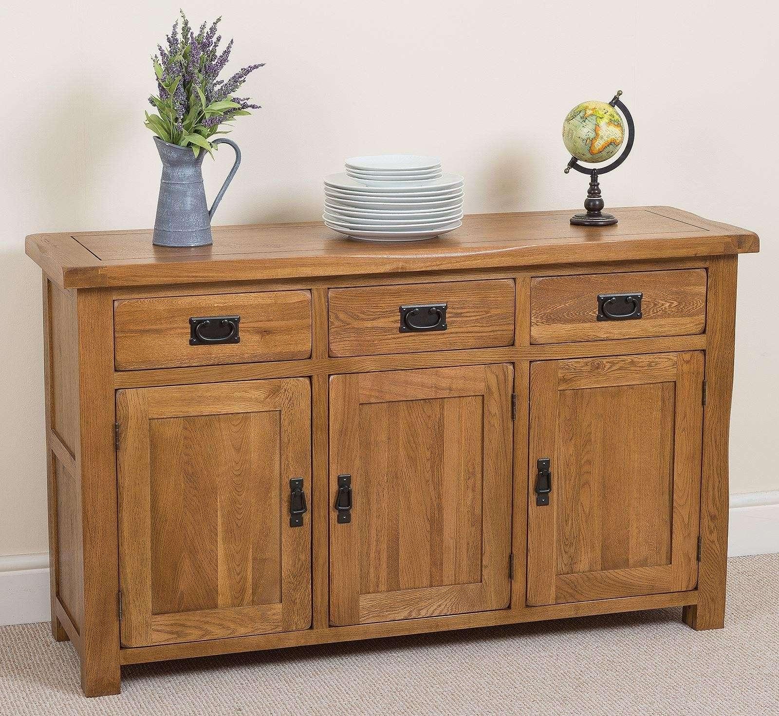 Cotswold Large Oak Sideboard | Free Uk Delivery Regarding Storage Sideboards (View 10 of 20)