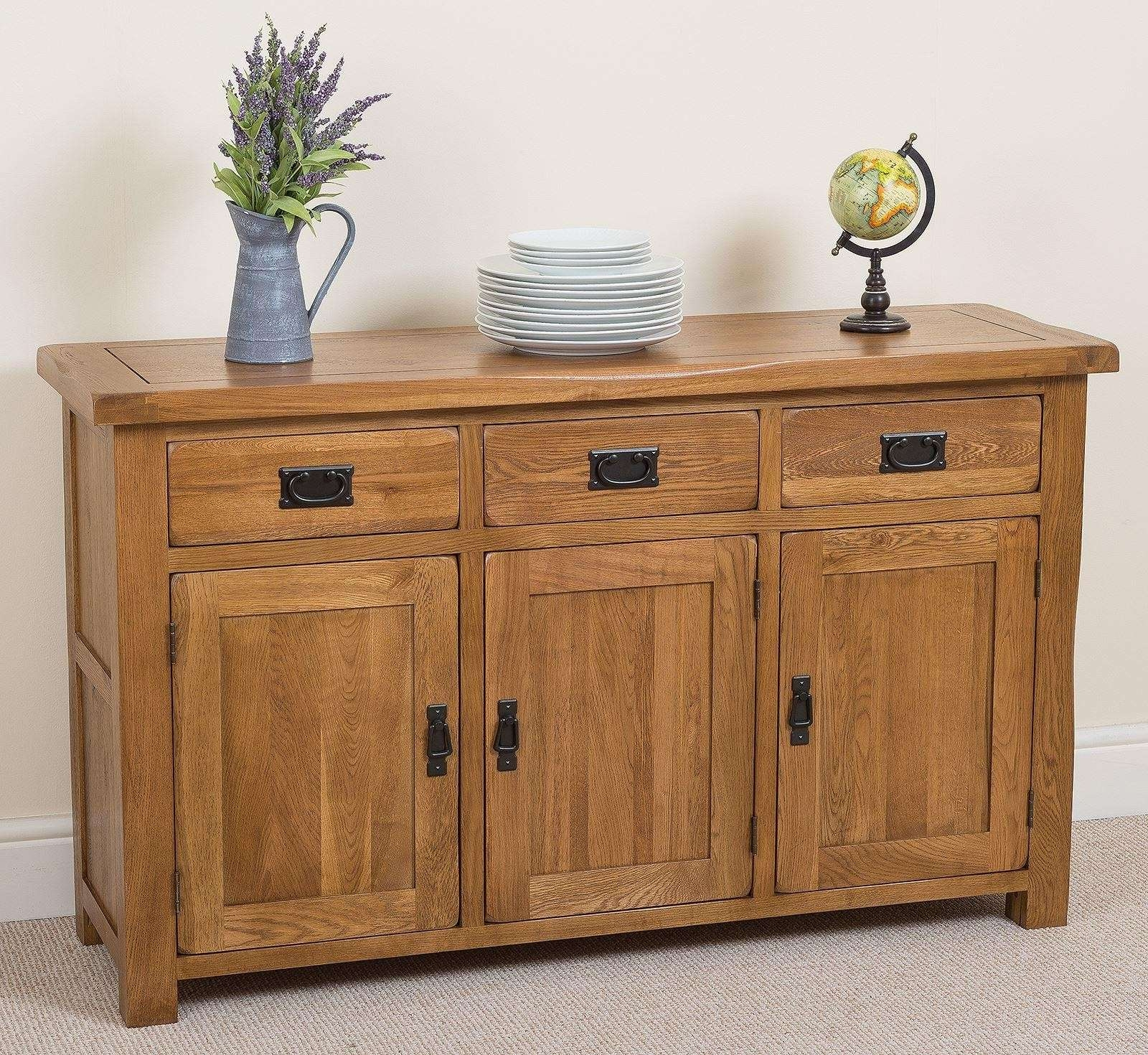 Cotswold Large Oak Sideboard | Free Uk Delivery With Regard To Rustic Oak Large Sideboards (View 3 of 20)