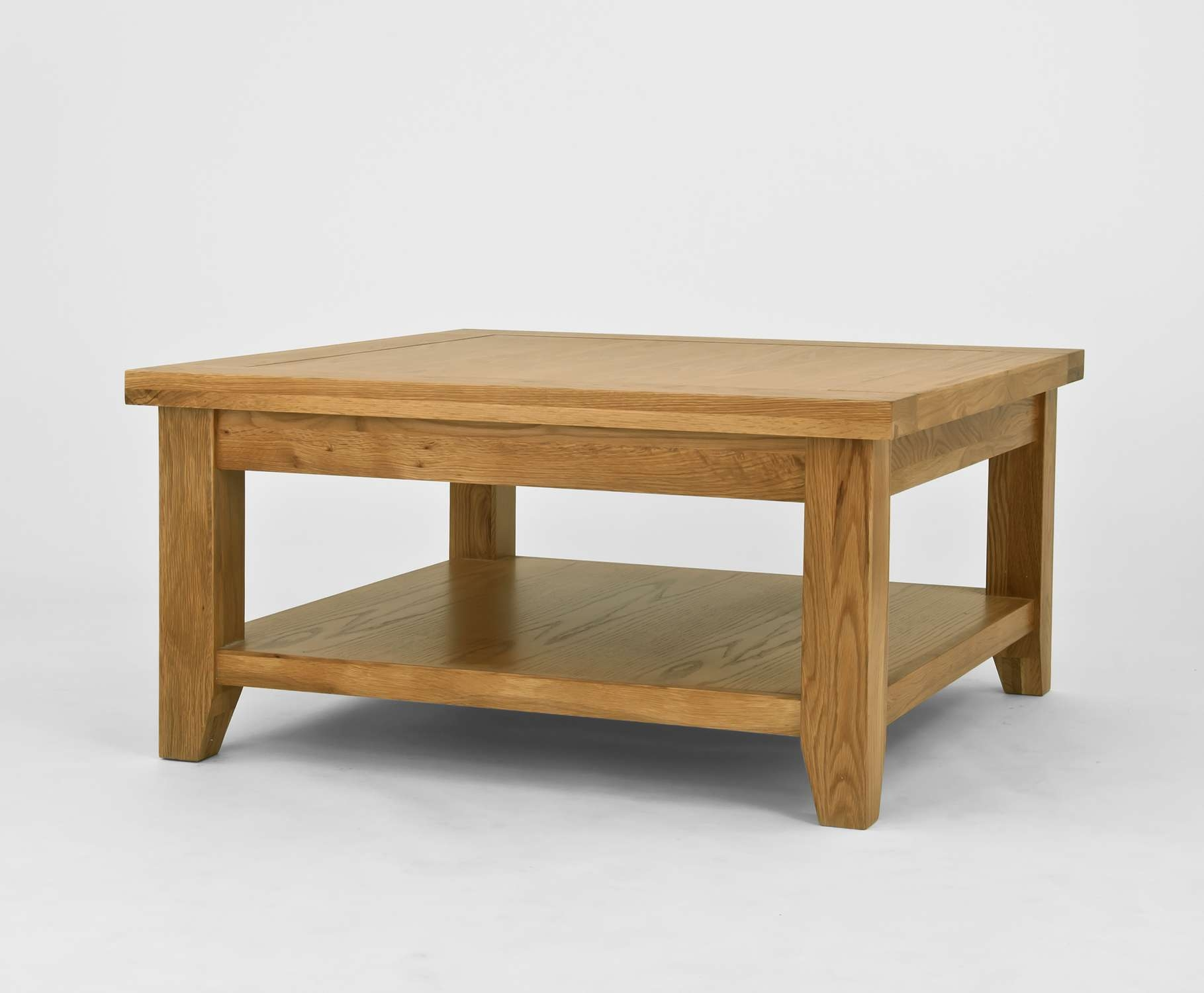 Cottage Light Solid Oak Coffee Table Oak Furniture King With Oak Regarding Fashionable Oak Wood Coffee Tables (View 5 of 20)