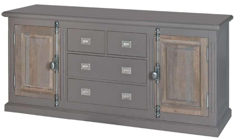 Country Oak 2 Door Painted Sideboard In Sideboards For Painted Sideboards (View 18 of 20)