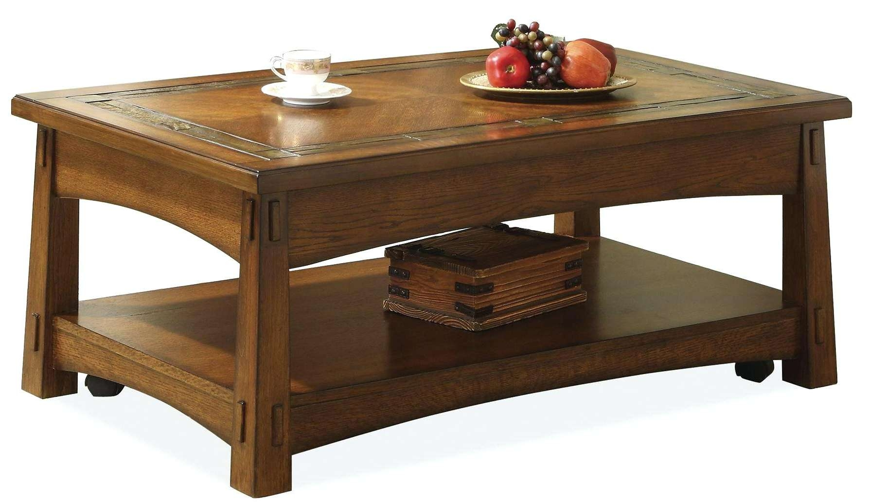 Craftsman Coffee Table Riverside Furniture Craftsman Home Lift Top With Regard To Recent Round Slate Top Coffee Tables (View 6 of 20)