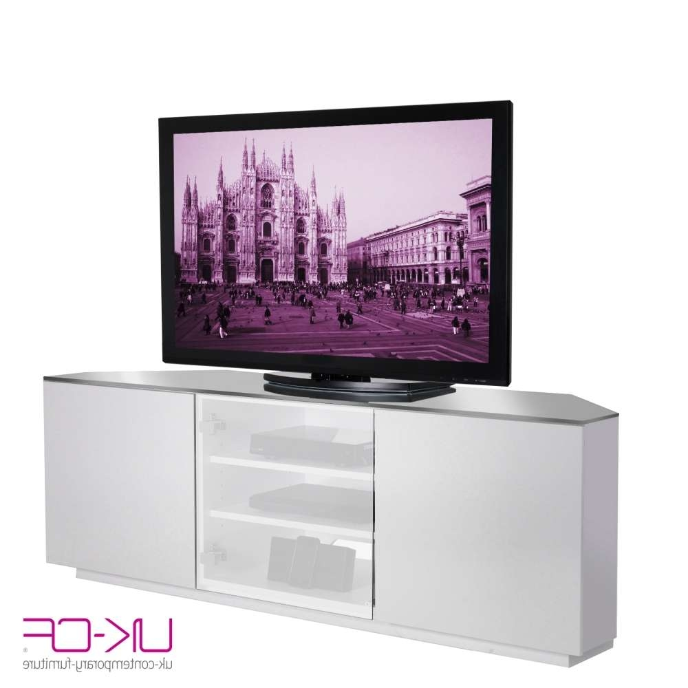 Cream Gloss Corner Tv Cabinet • Corner Cabinets With White Corner Tv Cabinets (View 2 of 20)
