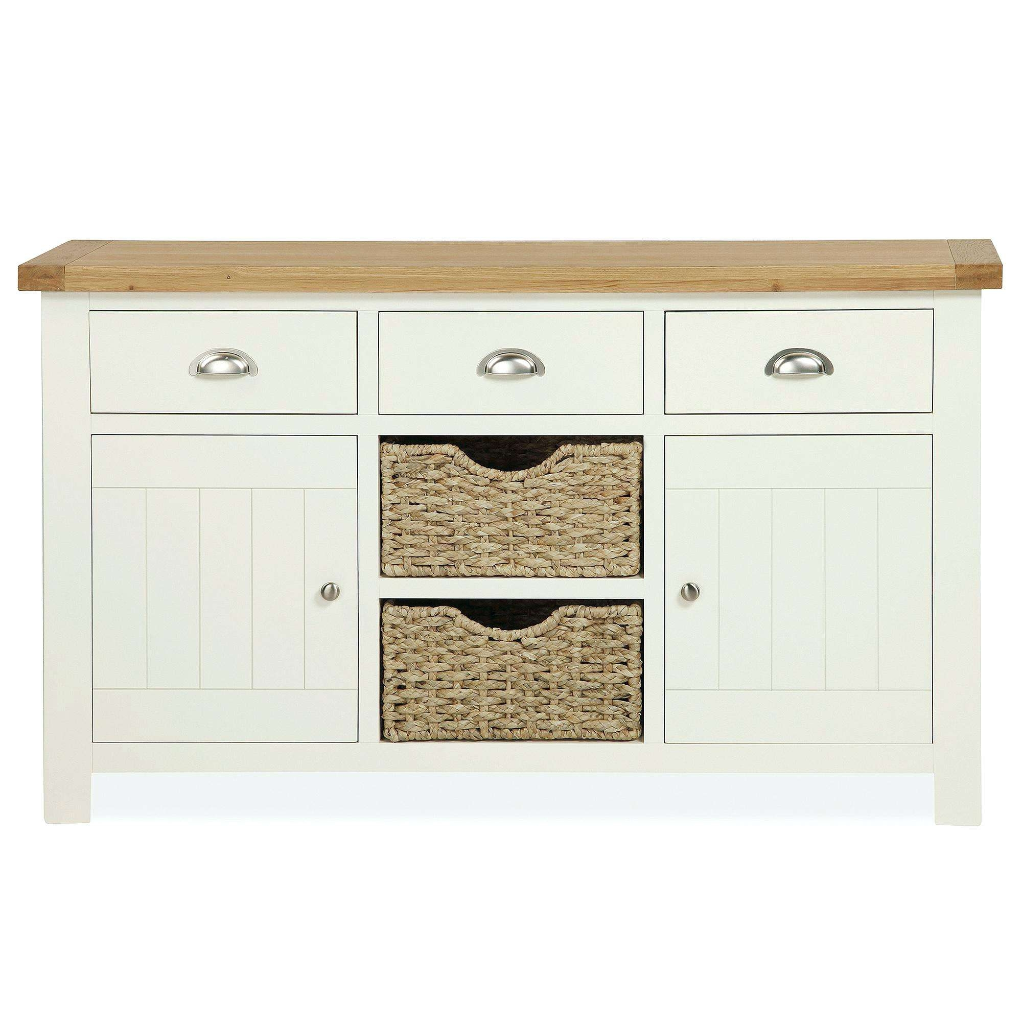 Cream Sideboard Cream Solid Oak Sideboard Large Cream Sideboard Pertaining To High Gloss Cream Sideboards (View 9 of 20)