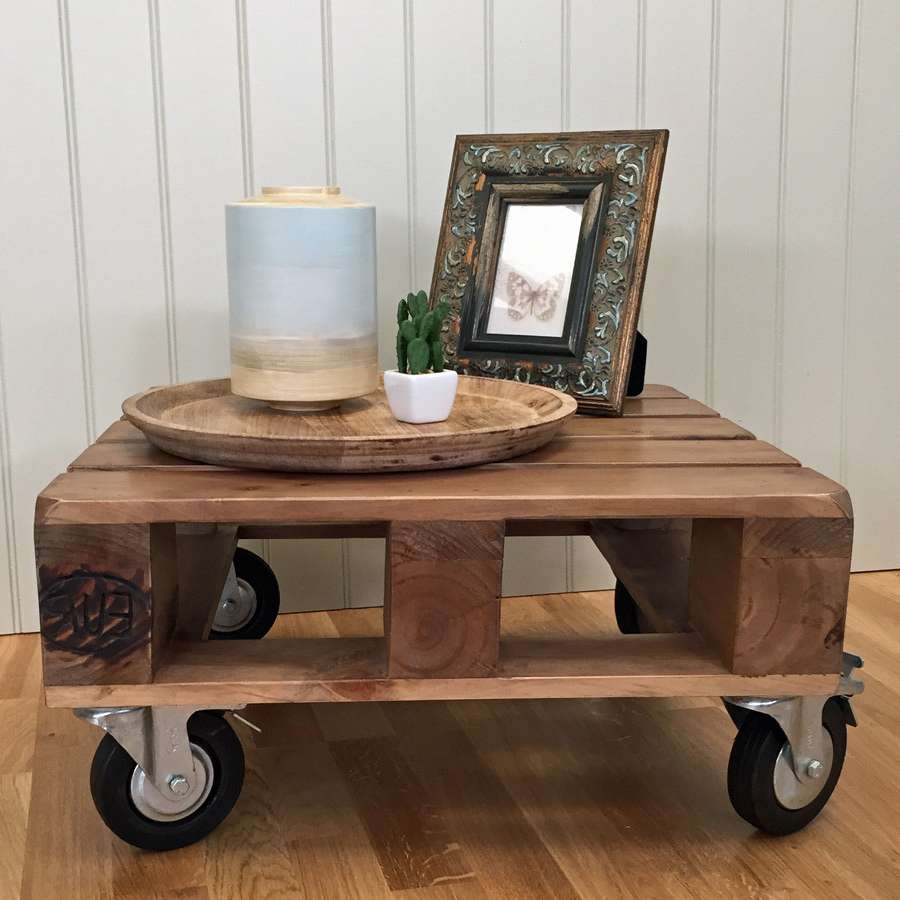 Creative Small Coffee Table On Wheels About Small Home Interior Regarding Favorite Rustic Coffee Table With Wheels (View 16 of 20)