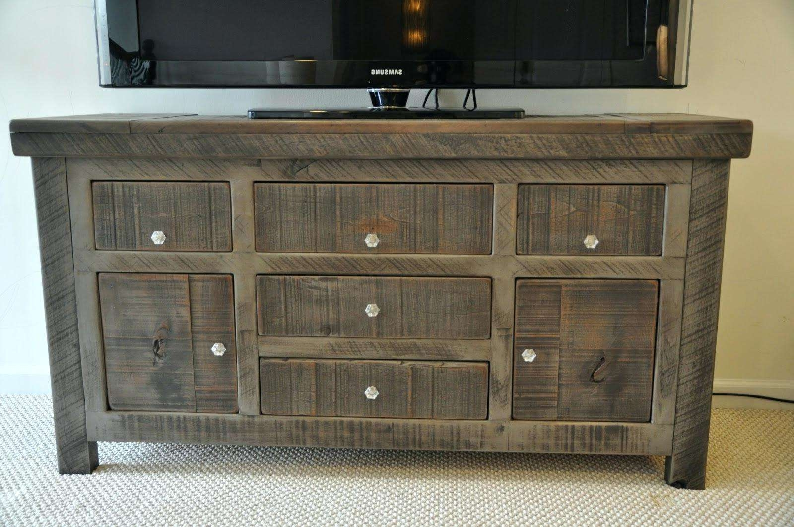 Credenza Dining Room Furniture Rustic Buffet Table Distressed Intended For Rustic Sideboards Furniture (View 1 of 20)