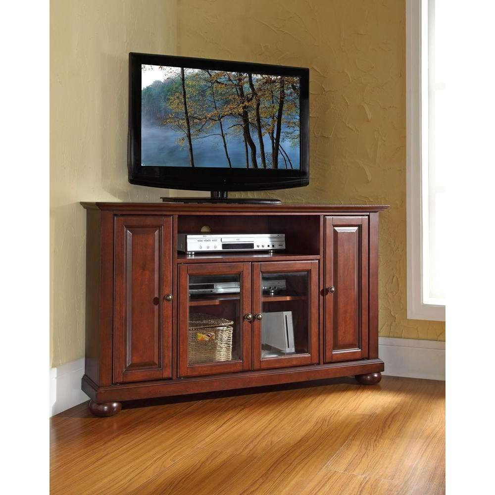 Crosley Alexandria Mahogany Entertainment Center Kf10006Ama – The Intended For Mahogany Corner Tv Cabinets (View 10 of 20)
