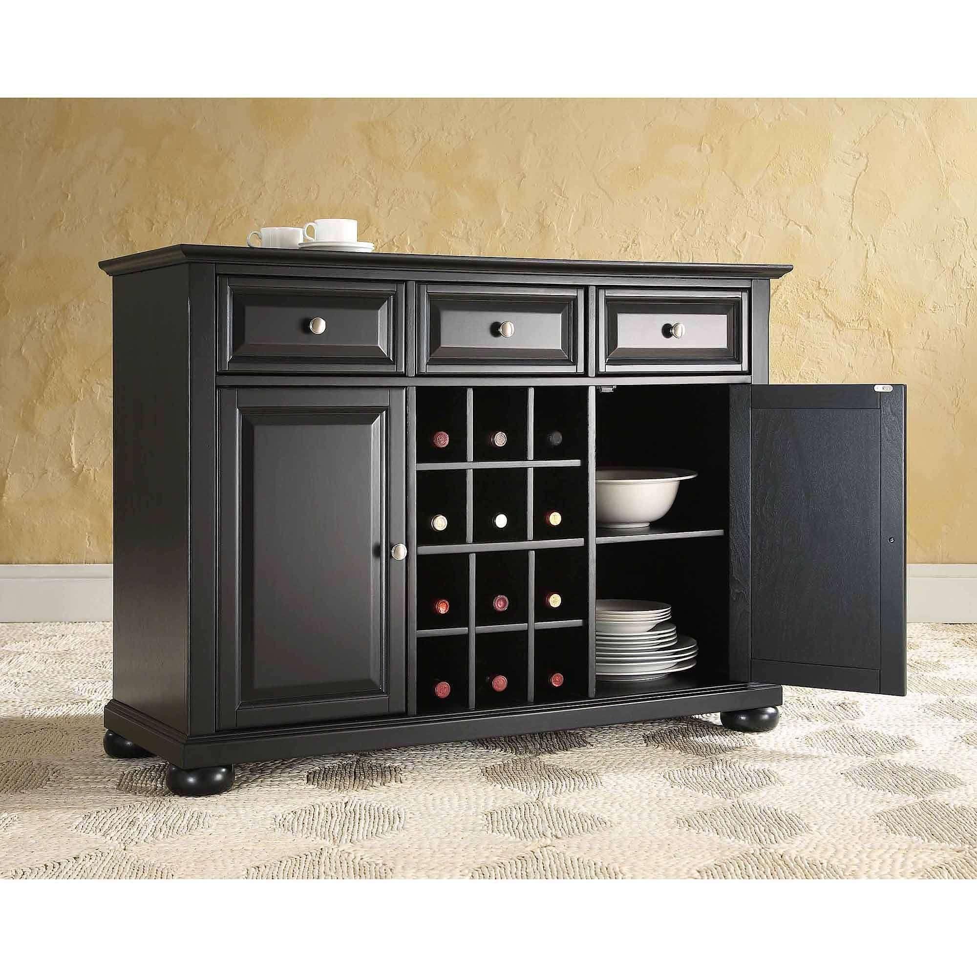 Crosley Furniture Alexandra Buffet Server And Sideboard Cabinet Regarding Sideboards Buffet Servers (View 9 of 20)