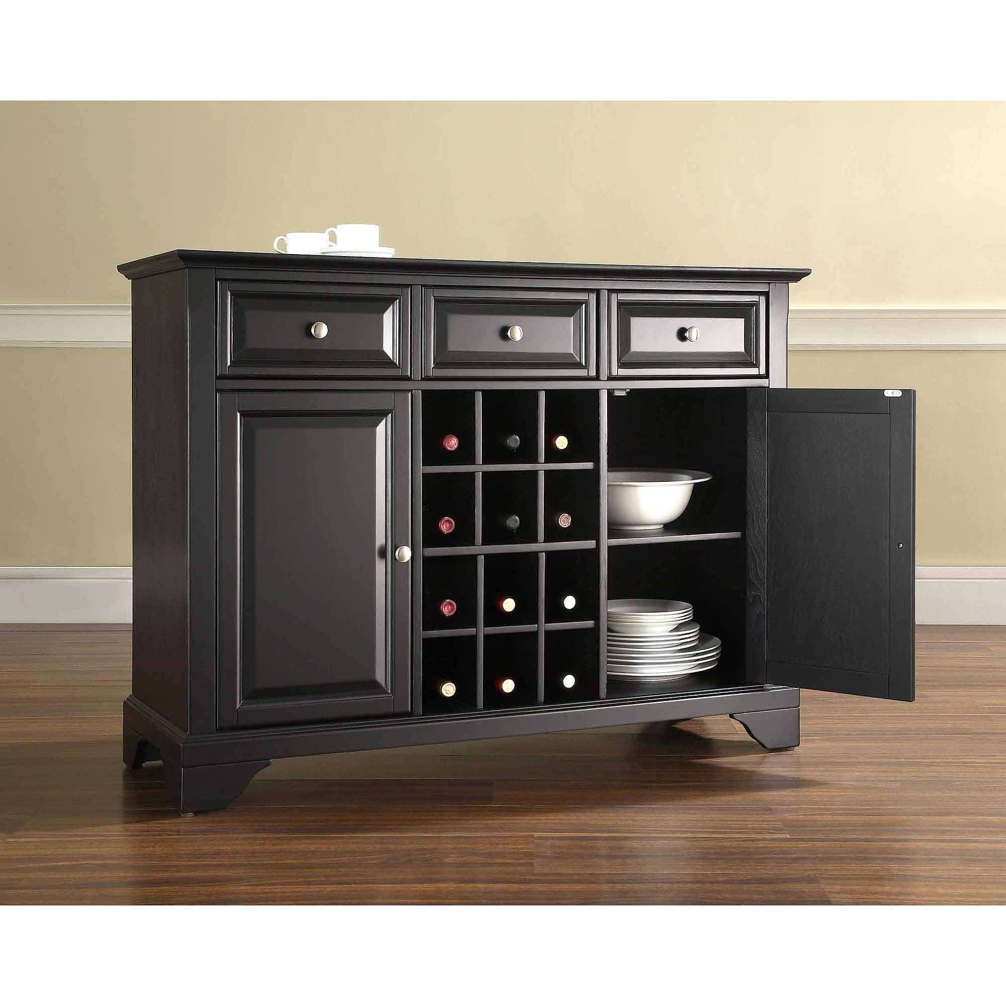 Crosley Furniture Lafayette Buffet Server And Sideboard Cabinet With Regard To Black Sideboards Cabinets (View 6 of 20)