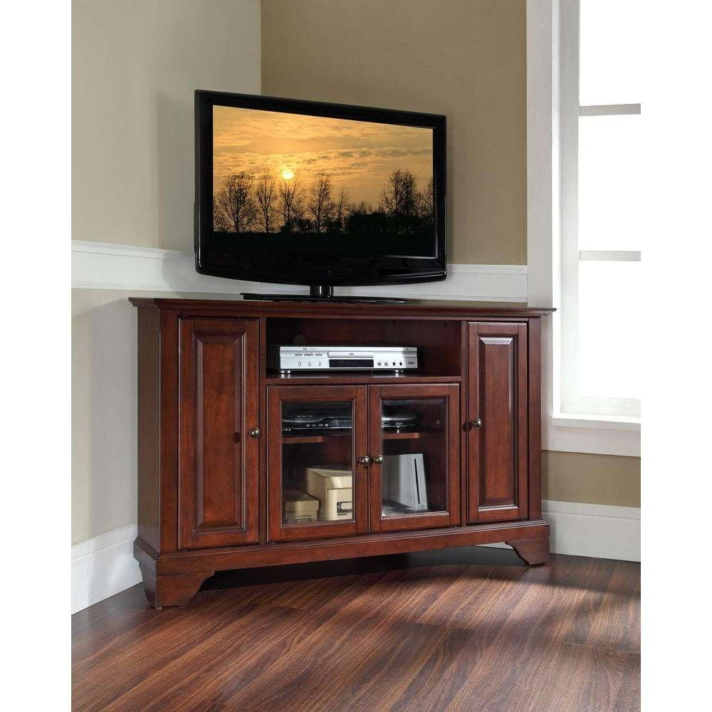 Crosley Lafayette Mahogany Entertainment Center Kf10006Bma – The Intended For Mahogany Corner Tv Cabinets (View 12 of 20)