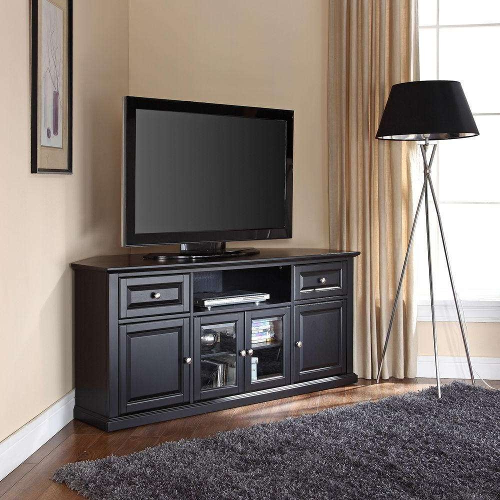 Crosley Mahogany Entertainment Center Cf1000260 Ma – The Home Depot Within Black Corner Tv Cabinets (View 10 of 20)