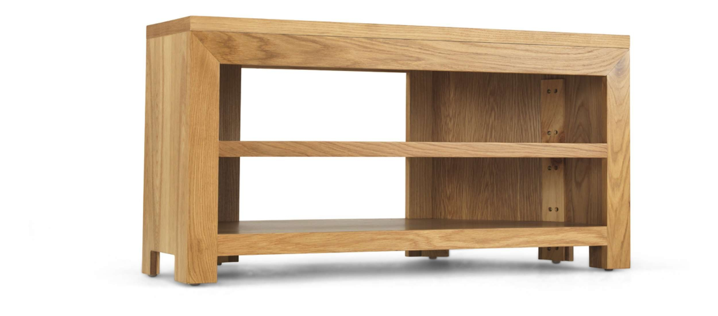 Cube Oak Open Corner Tv Unit | Quercus Living In Low Corner Tv Cabinets (View 7 of 20)