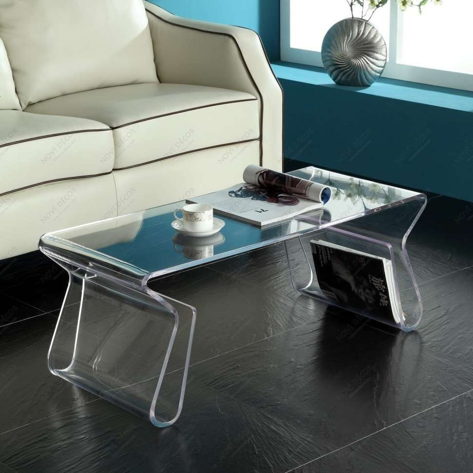 Current Acrylic Coffee Tables With Magazine Rack With Regard To Coffee Tables : Amazing Acrylic Coffee Table Unique With Magazine (View 11 of 20)