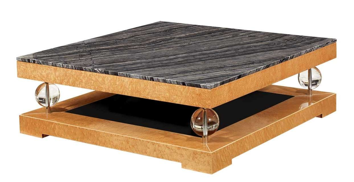 Current Art Coffee Tables Regarding Deco Black Marble Top Coffee Table (View 7 of 20)