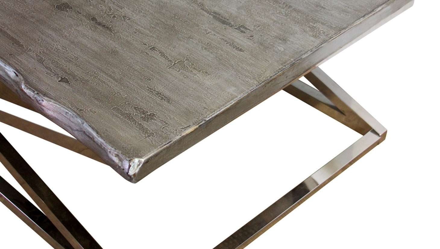 Current Chrome Leg Coffee Tables Within Table : Chrome Leg Coffee Tables Miraculous Chrome Cross Leg (View 6 of 20)