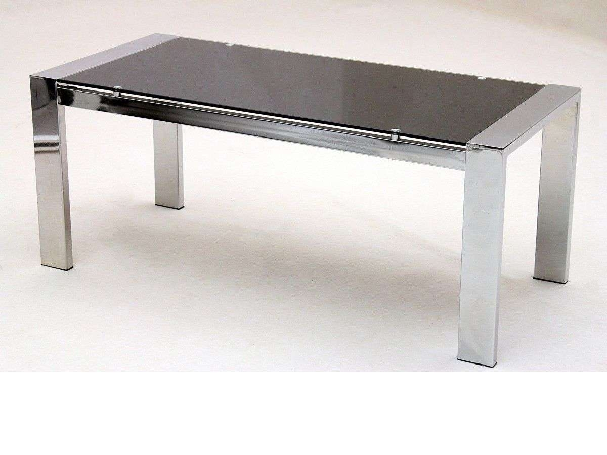 Current Coffee Tables With Chrome Legs With Large Glass Coffee Table Rectangle Chrome Legs – Homegenies (View 5 of 20)