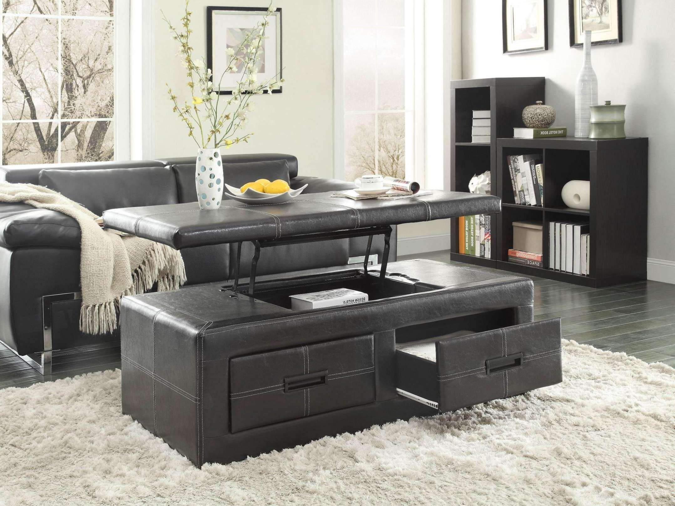 Current Coffee Tables With Lift Top And Storage Within Coffee Tables : Parsons Lift Top Coffee Table In Black That Lifts (View 7 of 20)