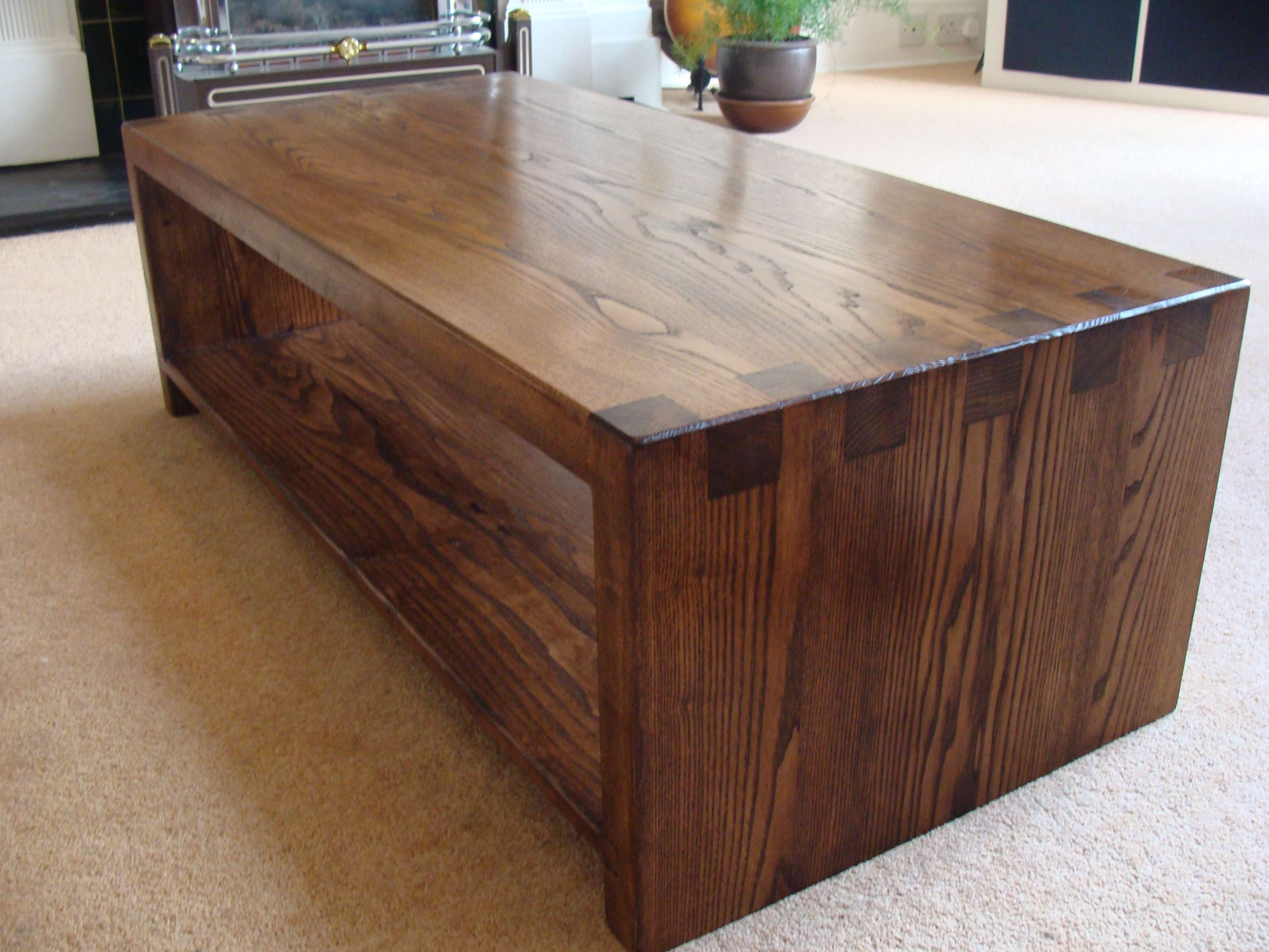 Current Dark Oak Coffee Tables For Oak Side Table Tags : Dark Oak Coffee Table Column Wood Coffee (View 9 of 20)