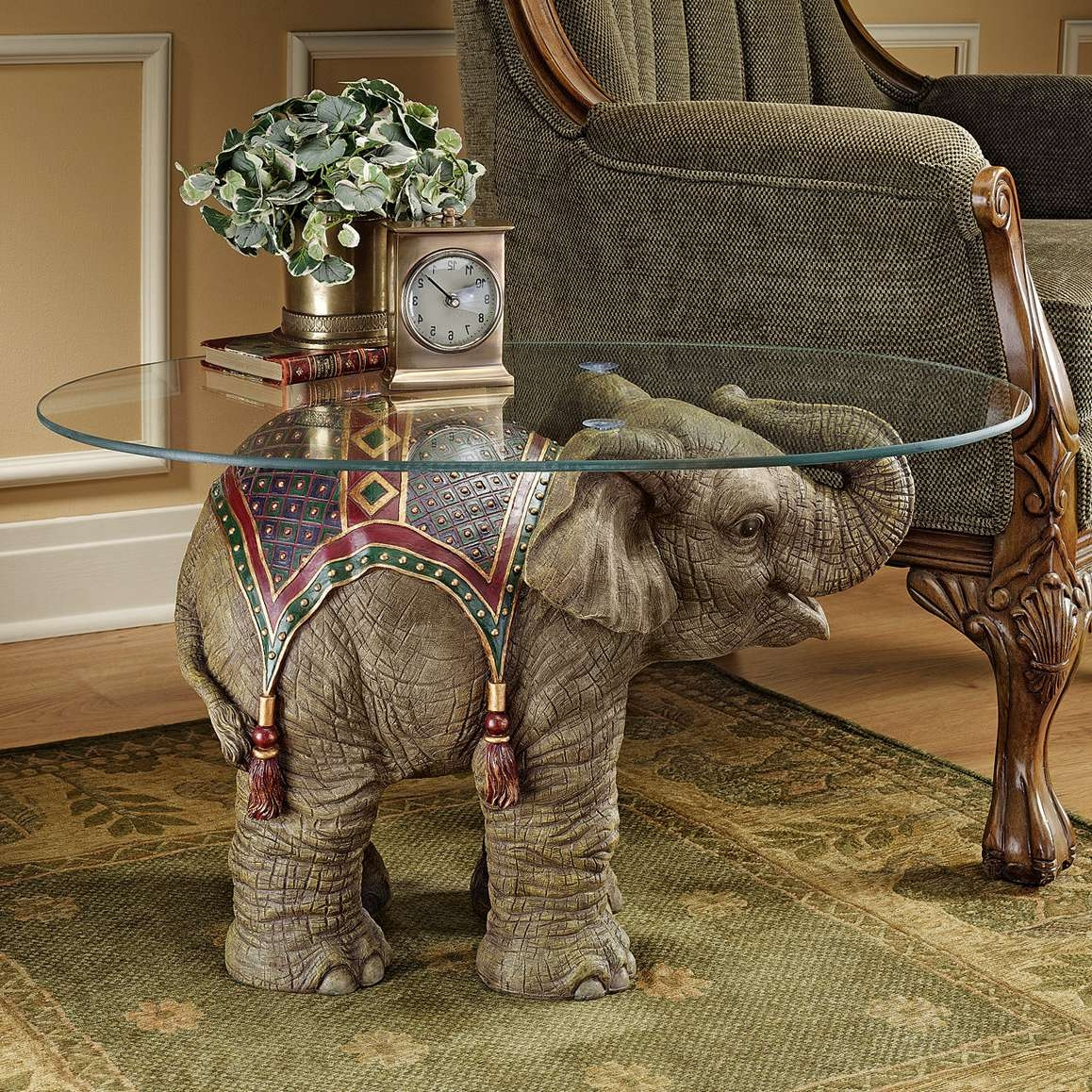 Current Elephant Coffee Tables Throughout Design Toscano Jaipur Elephant Festival Coffee Table & Reviews (View 2 of 20)