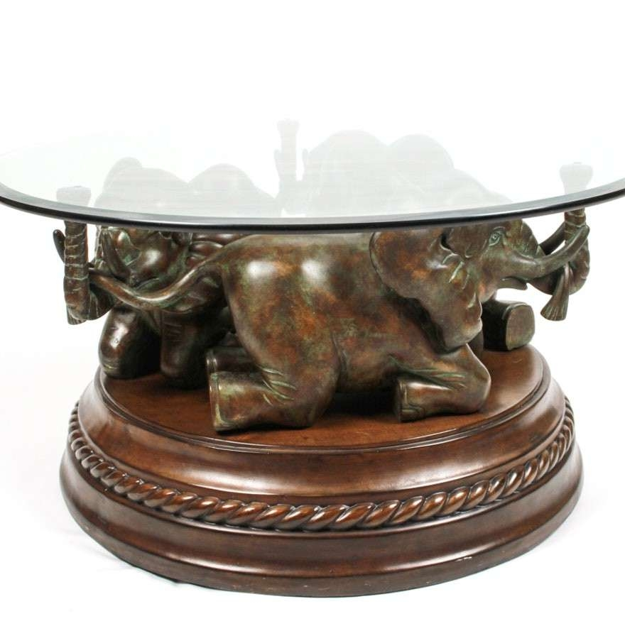 Current Elephant Coffee Tables Within Home ~ Elephant Coffee Table Tables With Glass Topselephant (View 8 of 20)