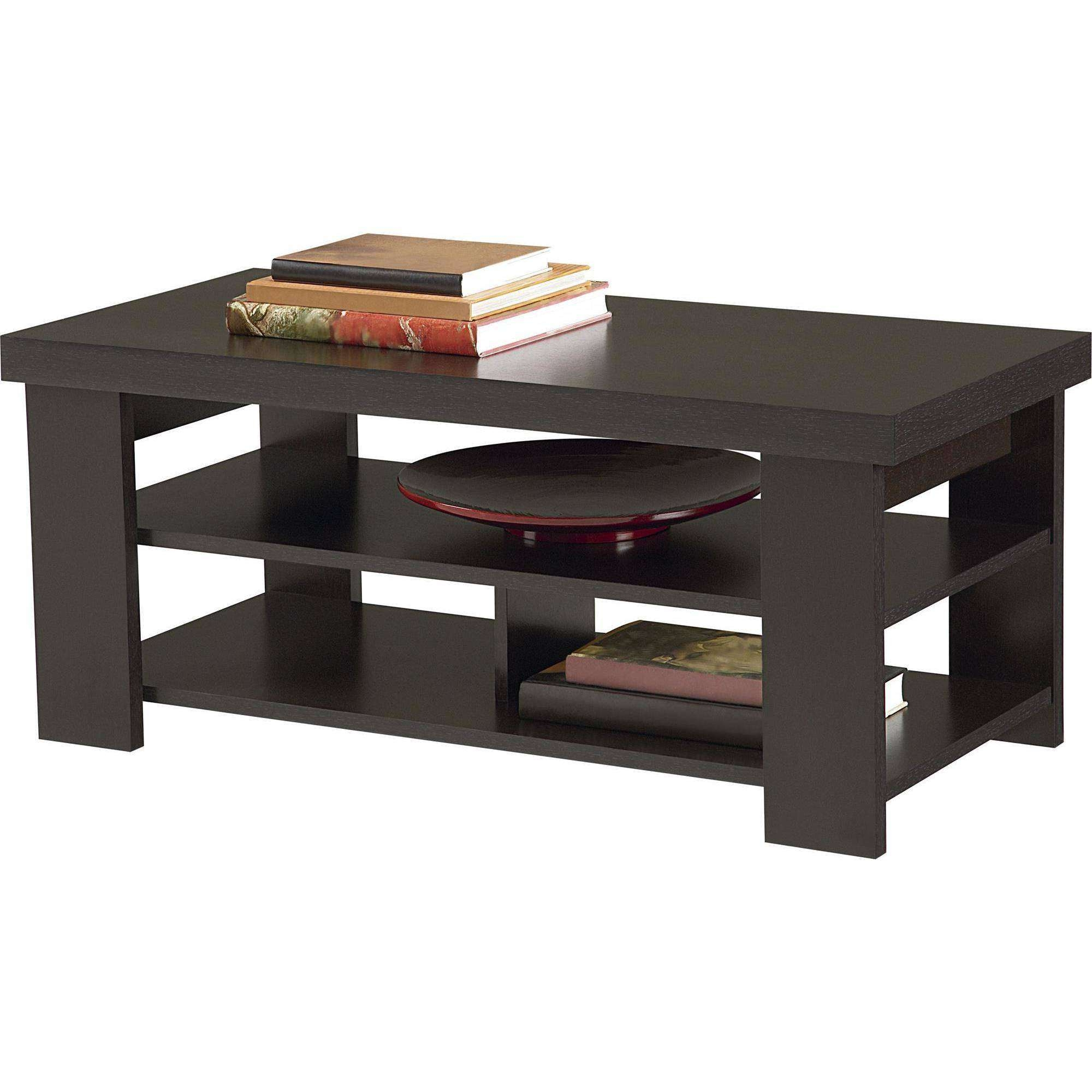 Current Espresso Coffee Tables Pertaining To Coffee Table : Wonderful Espresso Coffee Table Black Glass Coffee (View 14 of 20)