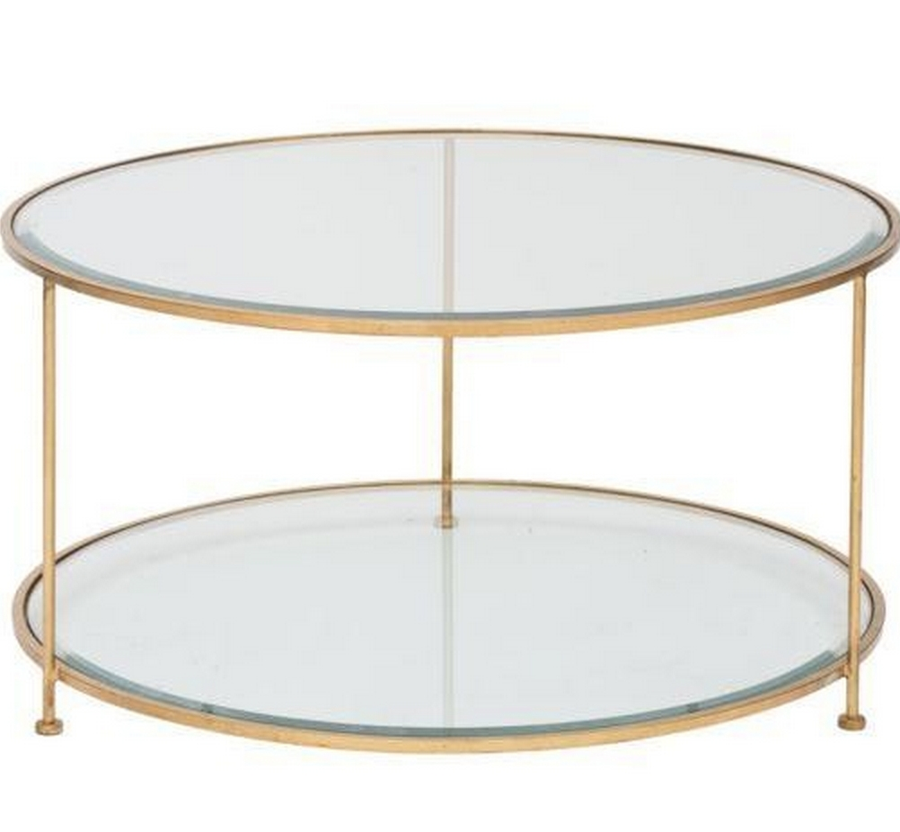Current Gold Round Coffee Table In Rollo Round Gold Coffee Table (View 9 of 20)