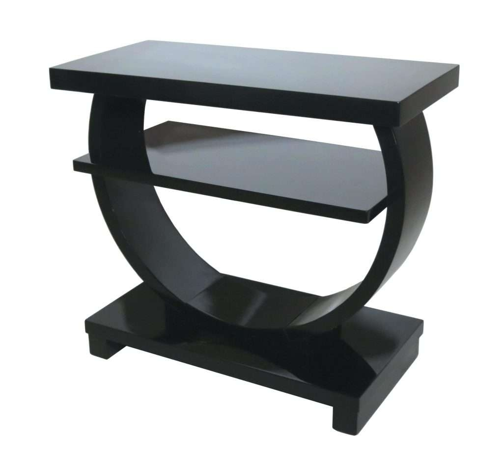 Current Half Circle Coffee Tables Inside Side Table ~ Rectangular Side Tables Furniture Rectangle Black (View 9 of 20)