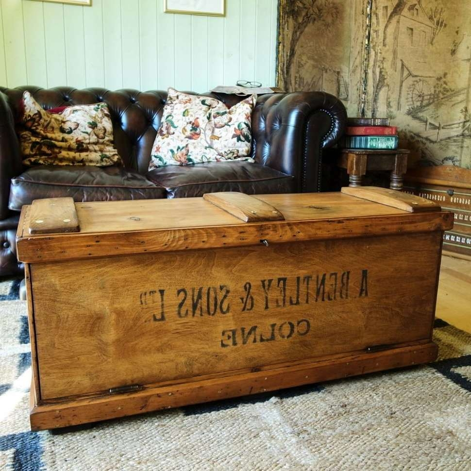 Current Large Trunk Coffee Tables For Coffee Table : Marvelous Antique Coffee Table Black Coffee Table (View 7 of 20)