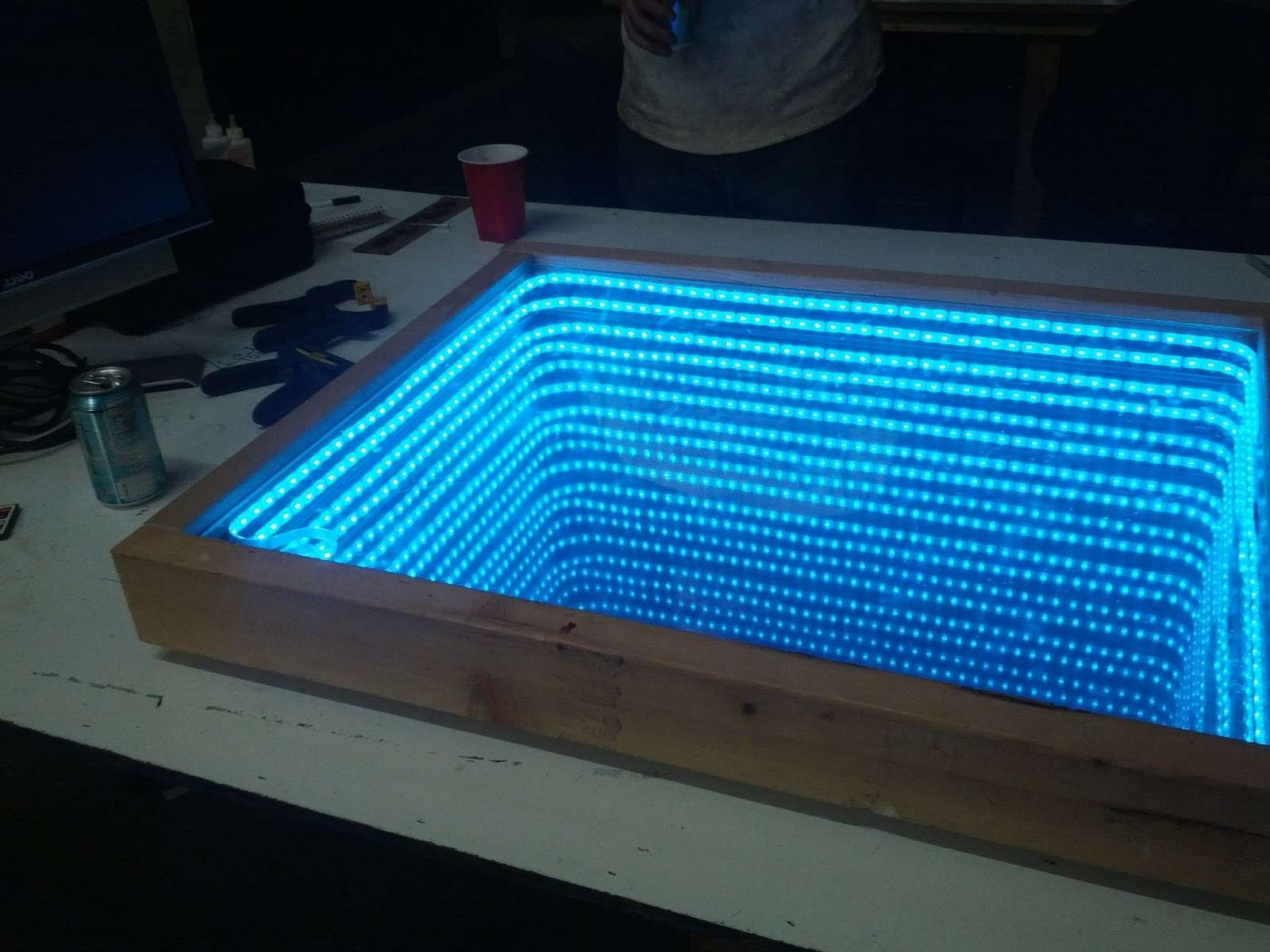 Current Led Coffee Tables With Building An Infinity Mirror Jpg Led Coffee Tab / Thippo (View 5 of 20)