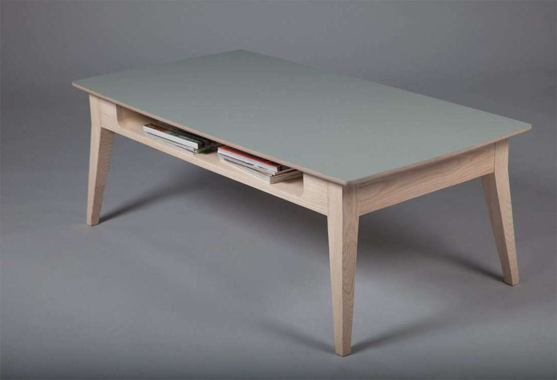 Current Low Rectangular Coffee Tables Pertaining To Scandinavian Design Coffee Table / Wooden / Rectangular (View 7 of 20)