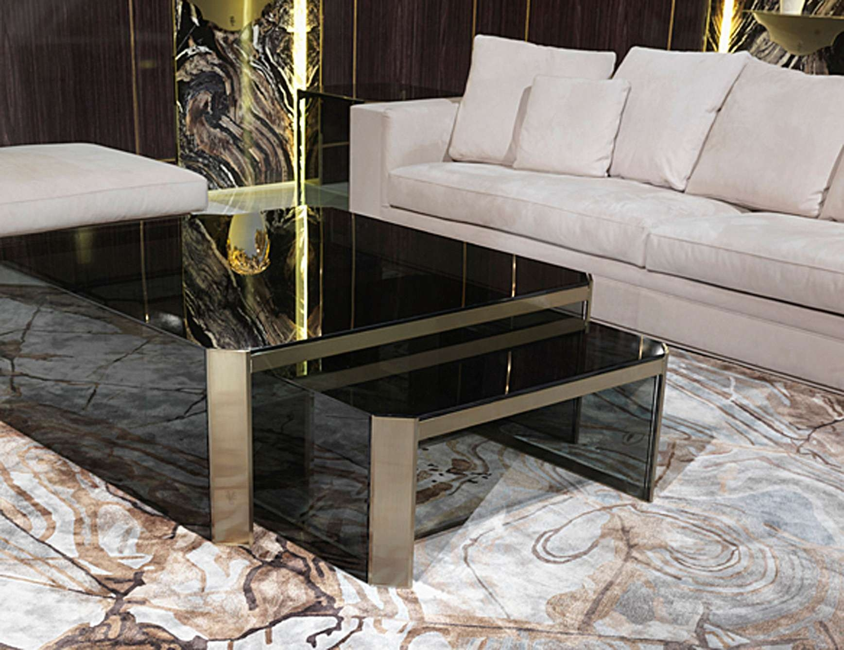 Current Luxury Coffee Tables Within Nella Vetrina Visionnaire Ipe Cavalli Barrett Smoked Glass Luxury (View 2 of 20)
