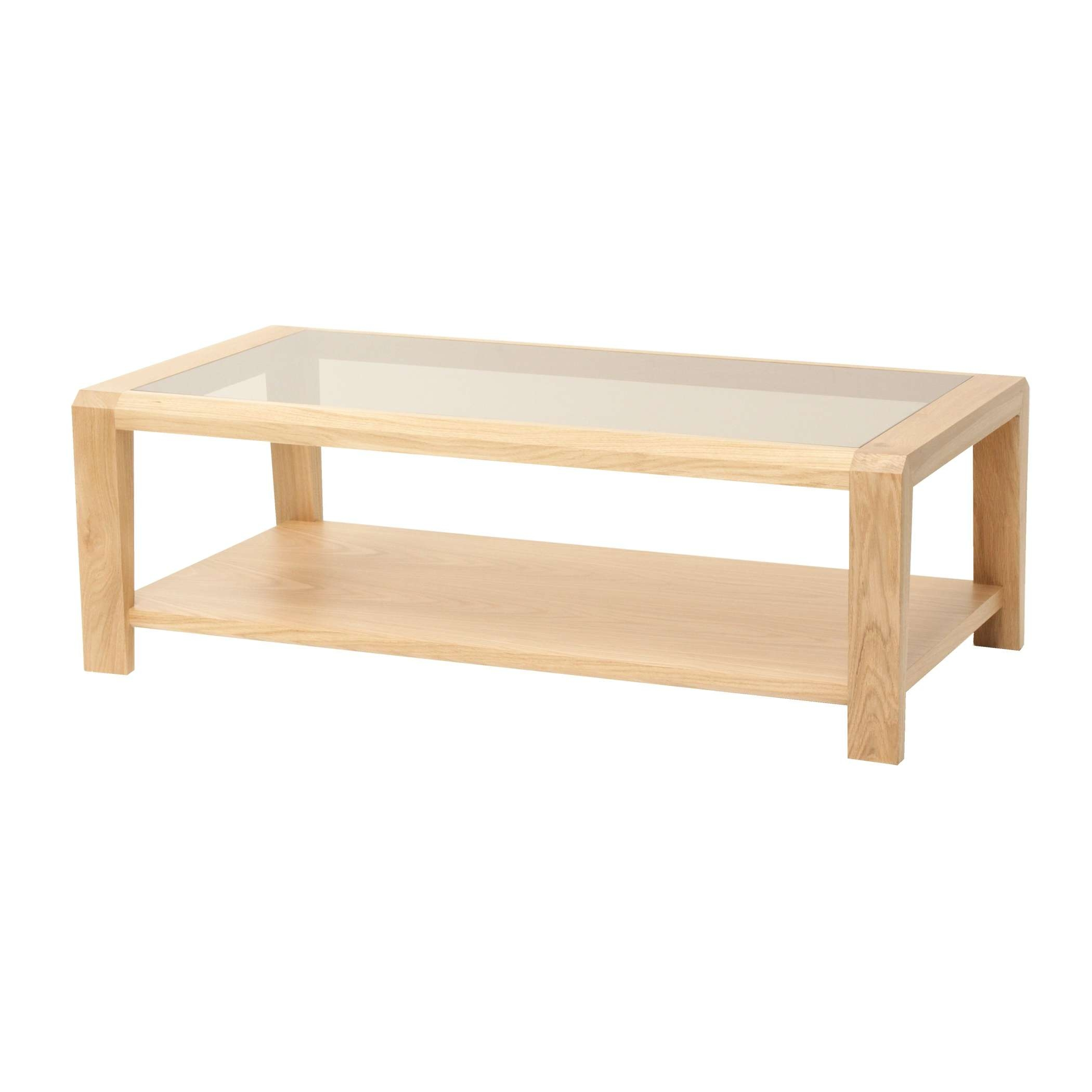 Current Oak Coffee Table With Shelf Throughout Oak Coffee Table With Glass Top And Shelf (View 15 of 20)