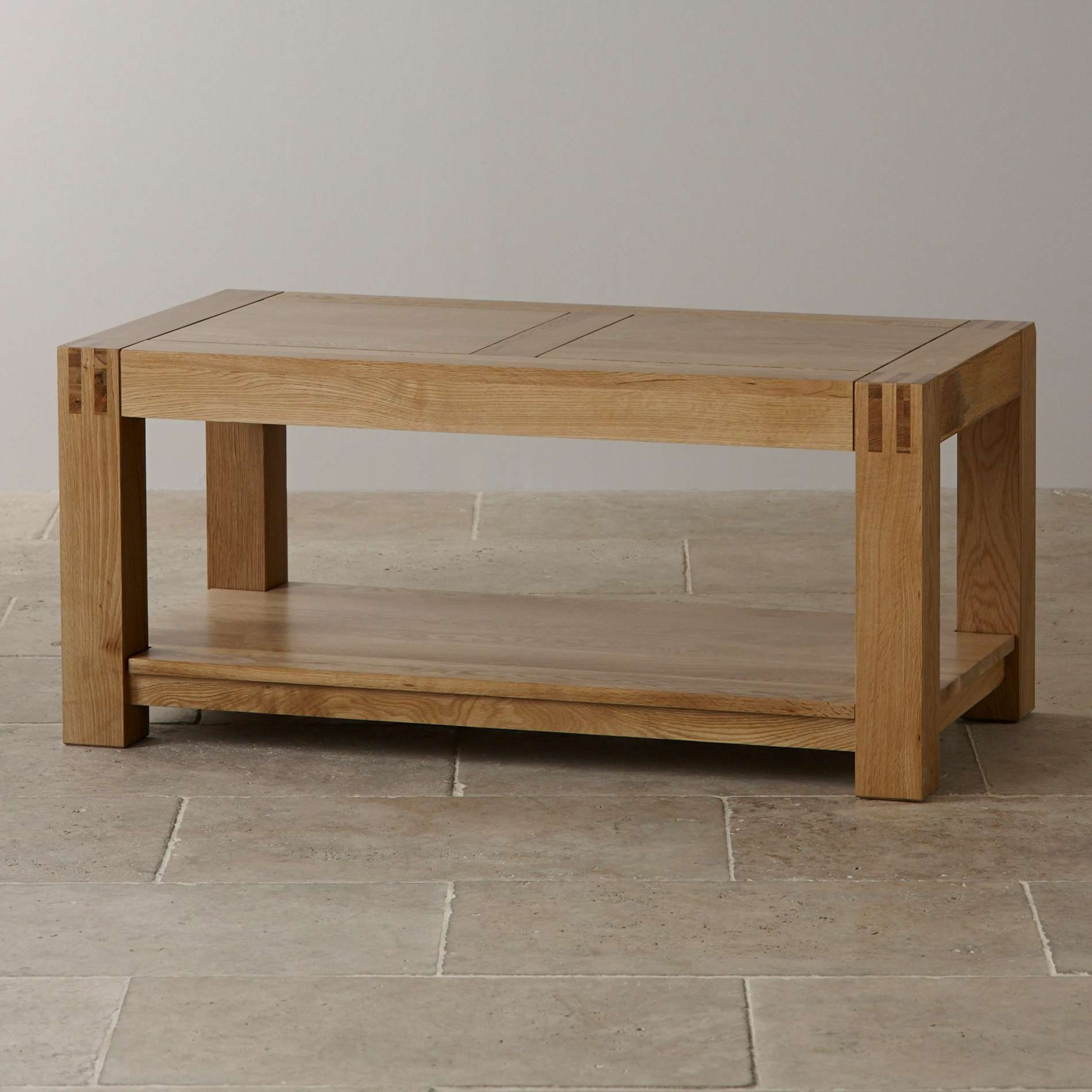 Current Oak Wood Coffee Tables Within Alto Natural Solid Oak Coffee Table (View 6 of 20)