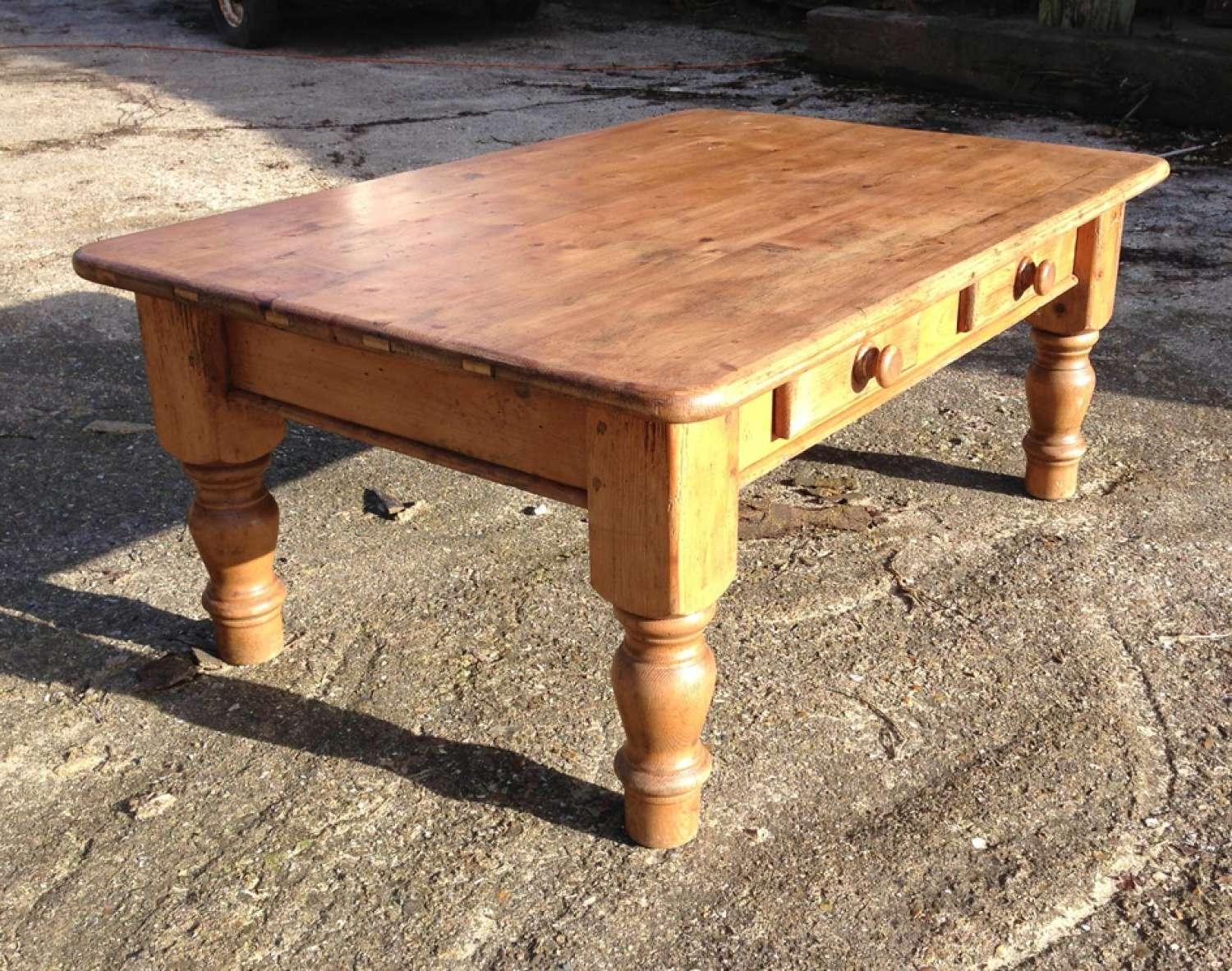 Current Old Pine Coffee Tables With Old Pine Coffee Table With Drawers In Furniture & Boxes (View 11 of 20)