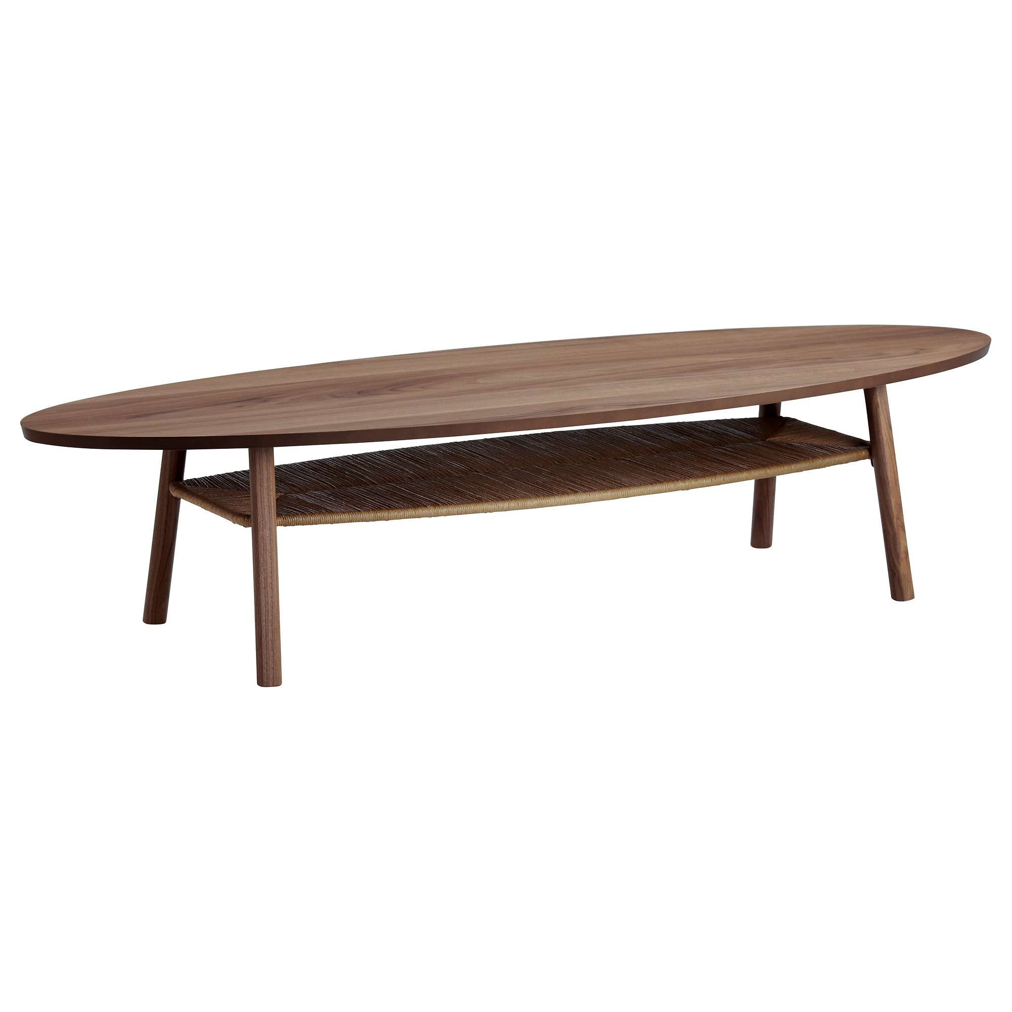 "Current Oval Walnut Coffee Tables Pertaining To Stockholm Coffee Table – Walnut Veneer, 70 7/8X23 1/4 "" – Ikea (View 5 of 20)"