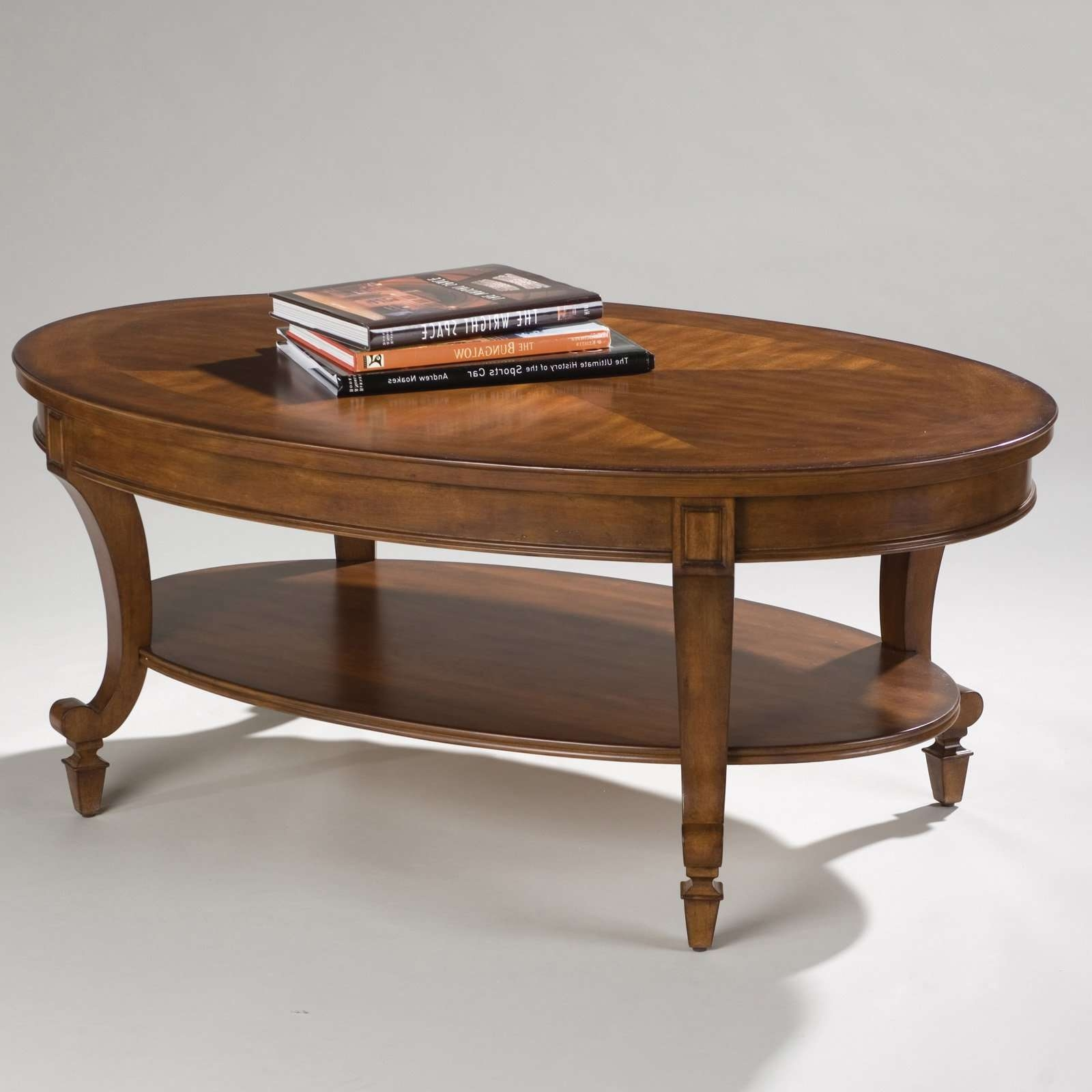Current Oval Wood Coffee Tables Within Steve Silver Troy Oval Cherry Wood Coffee Table (View 8 of 20)