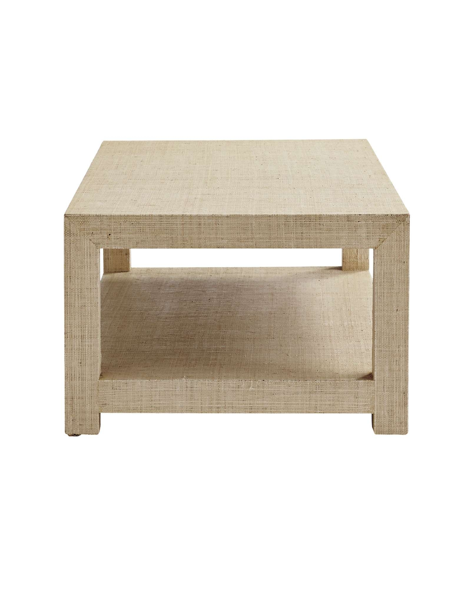 Current Rectangular Coffee Tables With Regard To Blake Raffia Rectangular Coffee Table – Small – Serena & Lily (View 6 of 20)