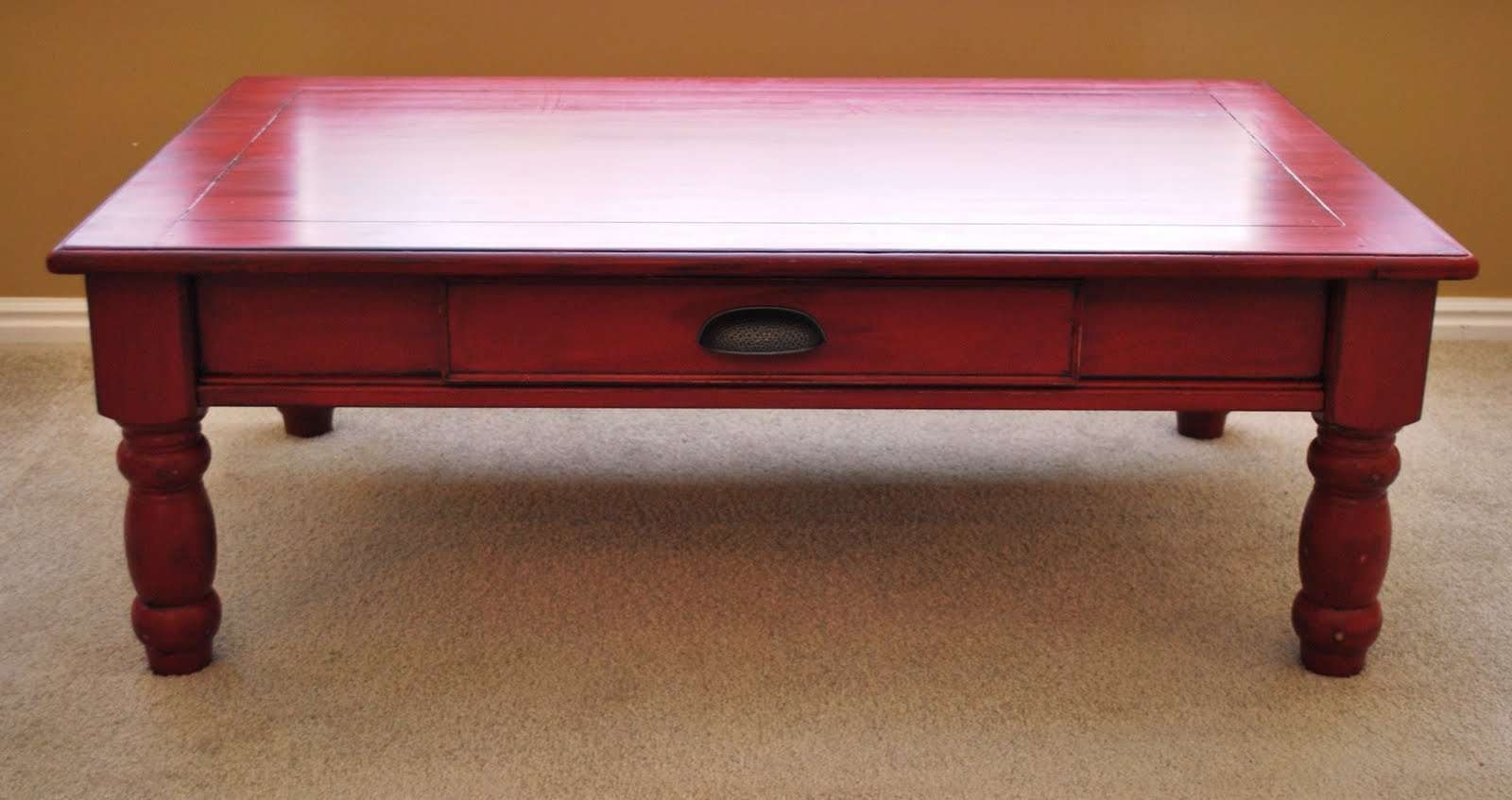 Current Red Coffee Tables With Regard To Coffee Table, Joyce Reclaimed Coffee Table Red Coffee Tables (View 5 of 20)