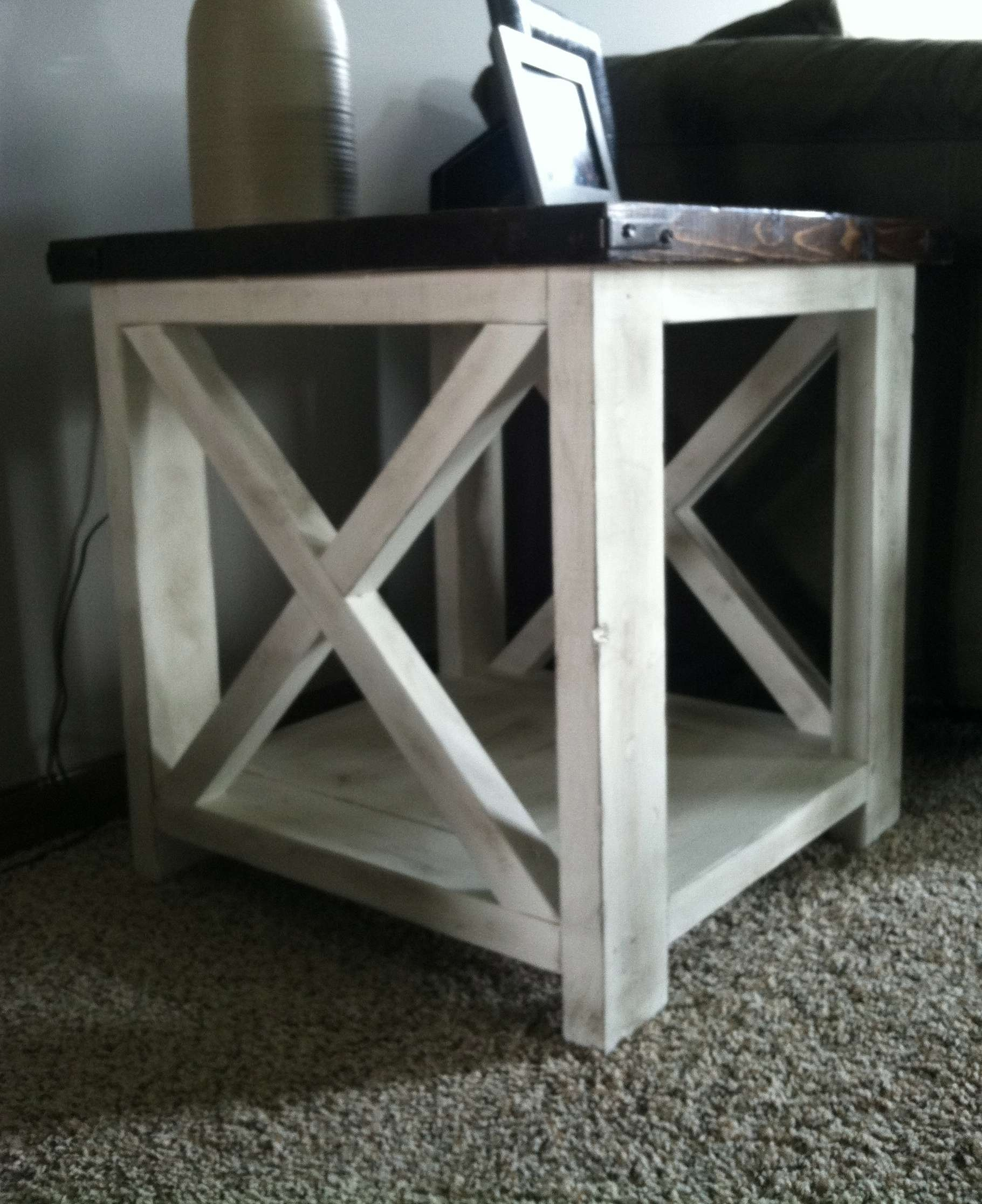 Current Rustic Coffee Table And Tv Stand With Regard To Ana White Rustic X Coffee Table Diy Projects End Tv Stand (View 8 of 20)