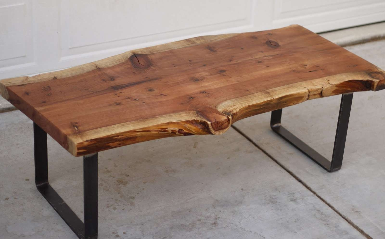 Current Rustic Wooden Coffee Tables Intended For Coffee Tables : Reclaimed Coffee Table Raw Wood Coffee Table (View 4 of 20)