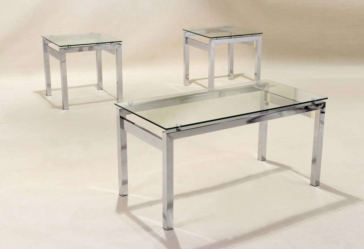 Current Transparent Glass Coffee Tables Regarding Clear Glass Coffee Table 2 Matching Side Table Lamp Table (View 8 of 20)