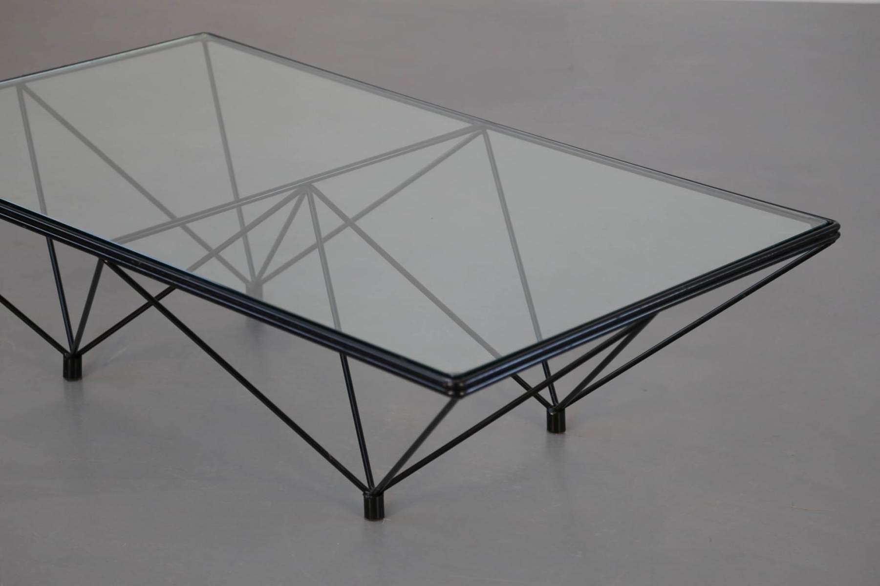 Current Vintage Glass Coffee Tables Within Table Square Vintage Coffee Table Los Angeles Glass And Wood (View 4 of 20)
