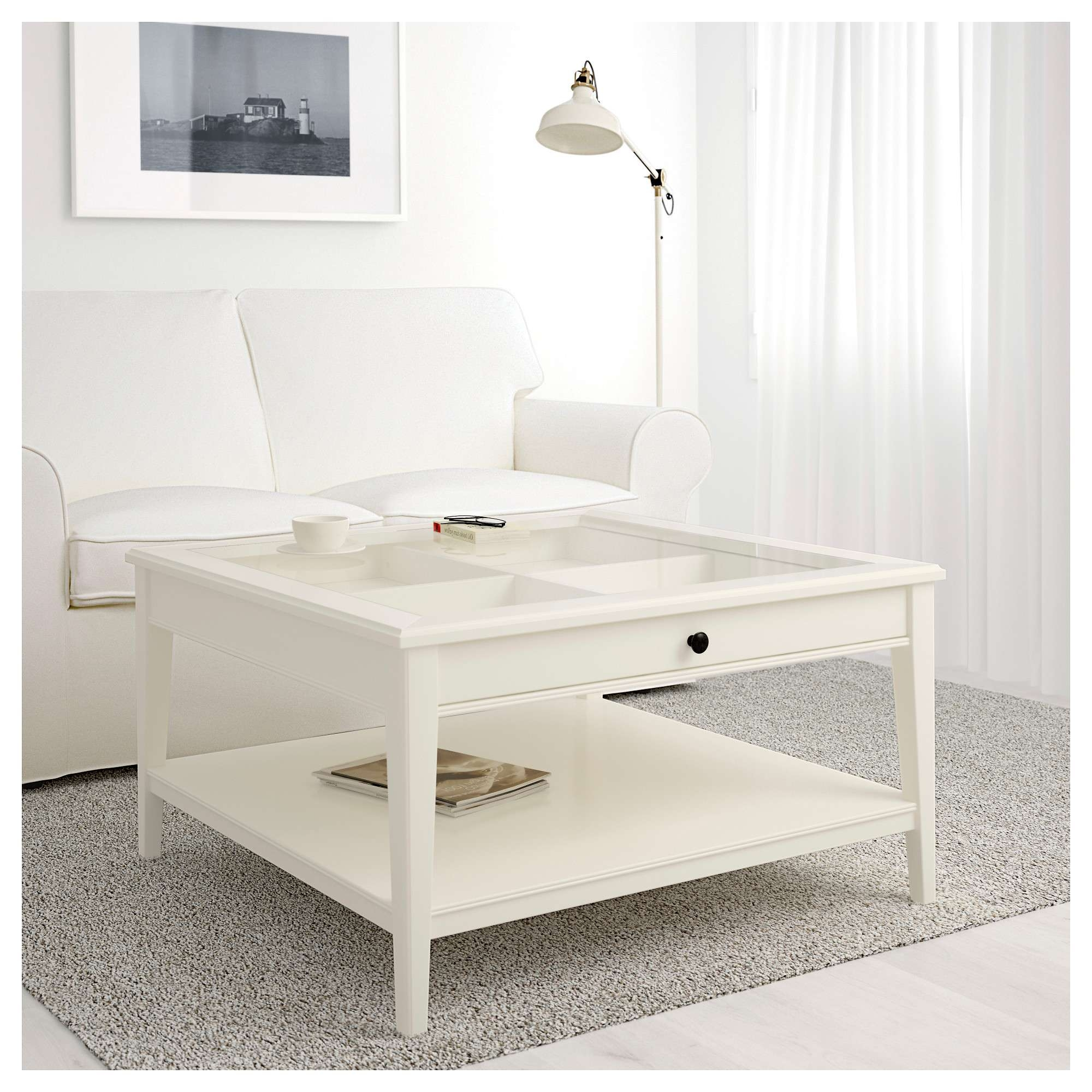 Current White And Glass Coffee Tables Regarding Liatorp Coffee Table – White/glass – Ikea (View 9 of 20)