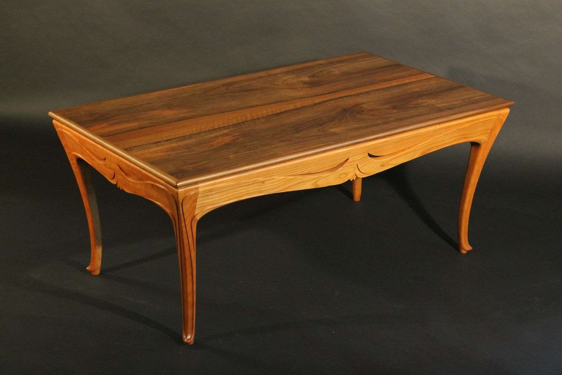 Custom Art Nouveau Coffee Tablej Rivers Furniture & Millwork Throughout Preferred Art Coffee Tables (View 9 of 20)