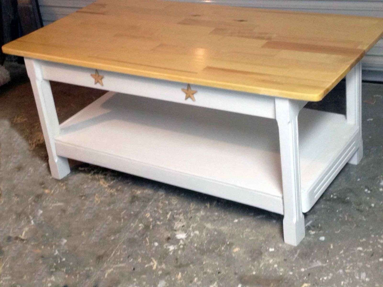 Custom Country Style Coffee Tableall Solid Wood Furniture Inside Best And Newest Country Coffee Tables (View 4 of 20)