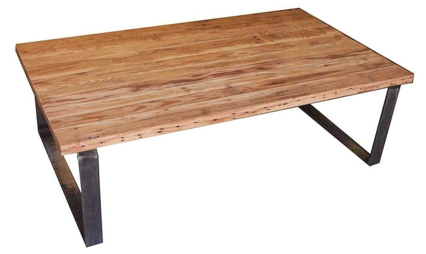 Custom Industrial Modern Metal And Reclamed Wood Coffee Table Regarding Most Current Metal And Wood Coffee Tables (View 4 of 20)