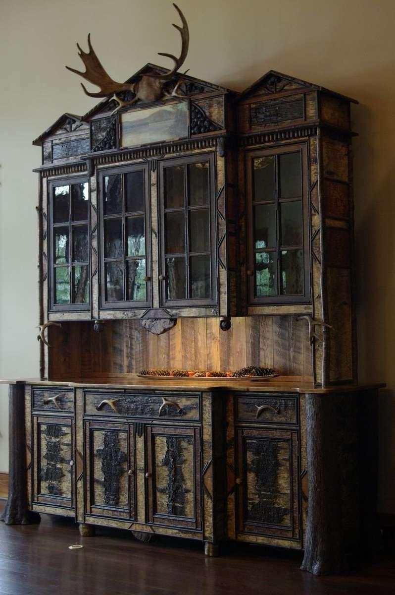 Custom Made Adirondack Rustic Buffet/hutch Cabinetl (View 20 of 20)