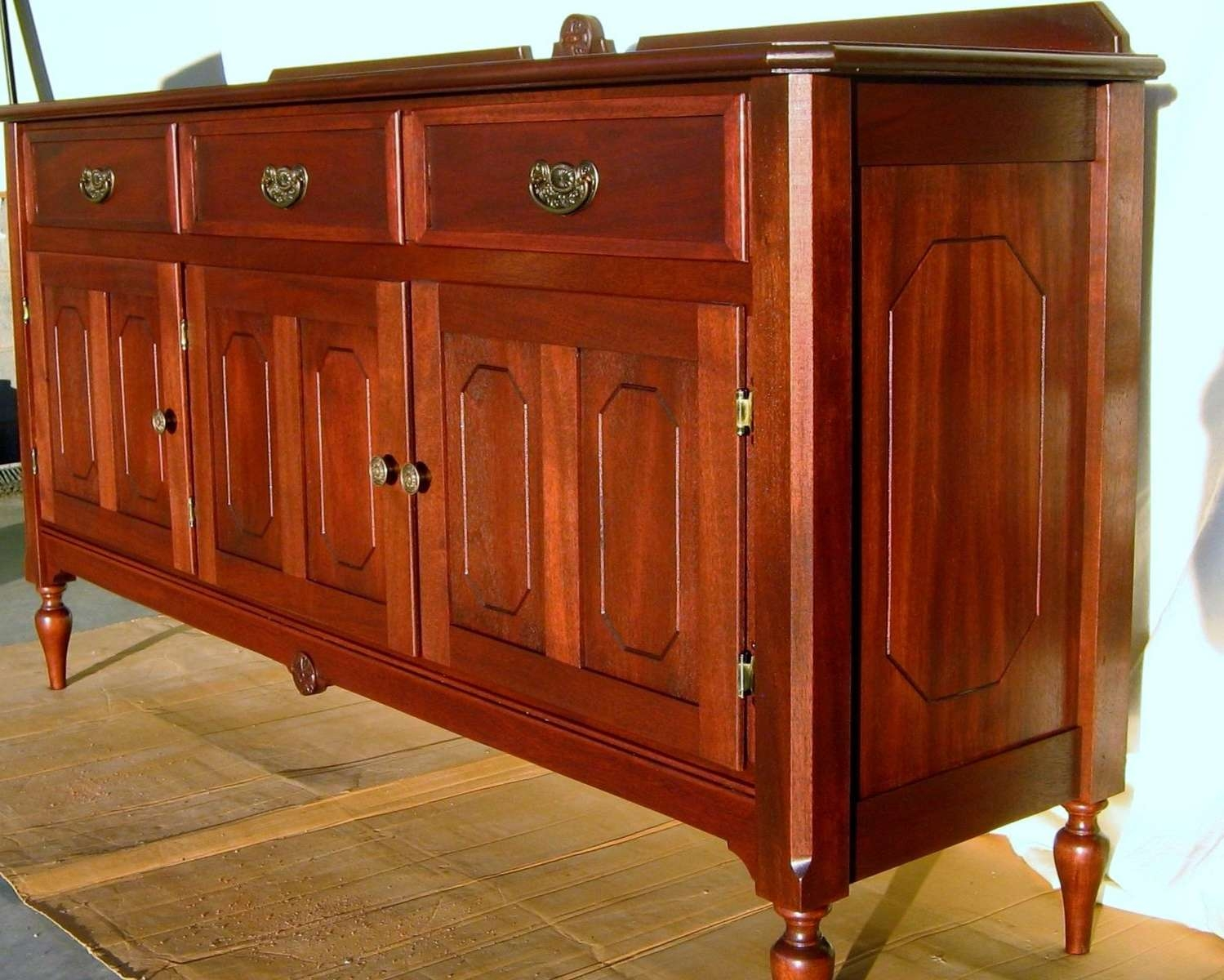 Custom Made Antique Reproduction Buffet/sideboardwm Pinion Throughout Red Sideboards Buffets (View 3 of 20)