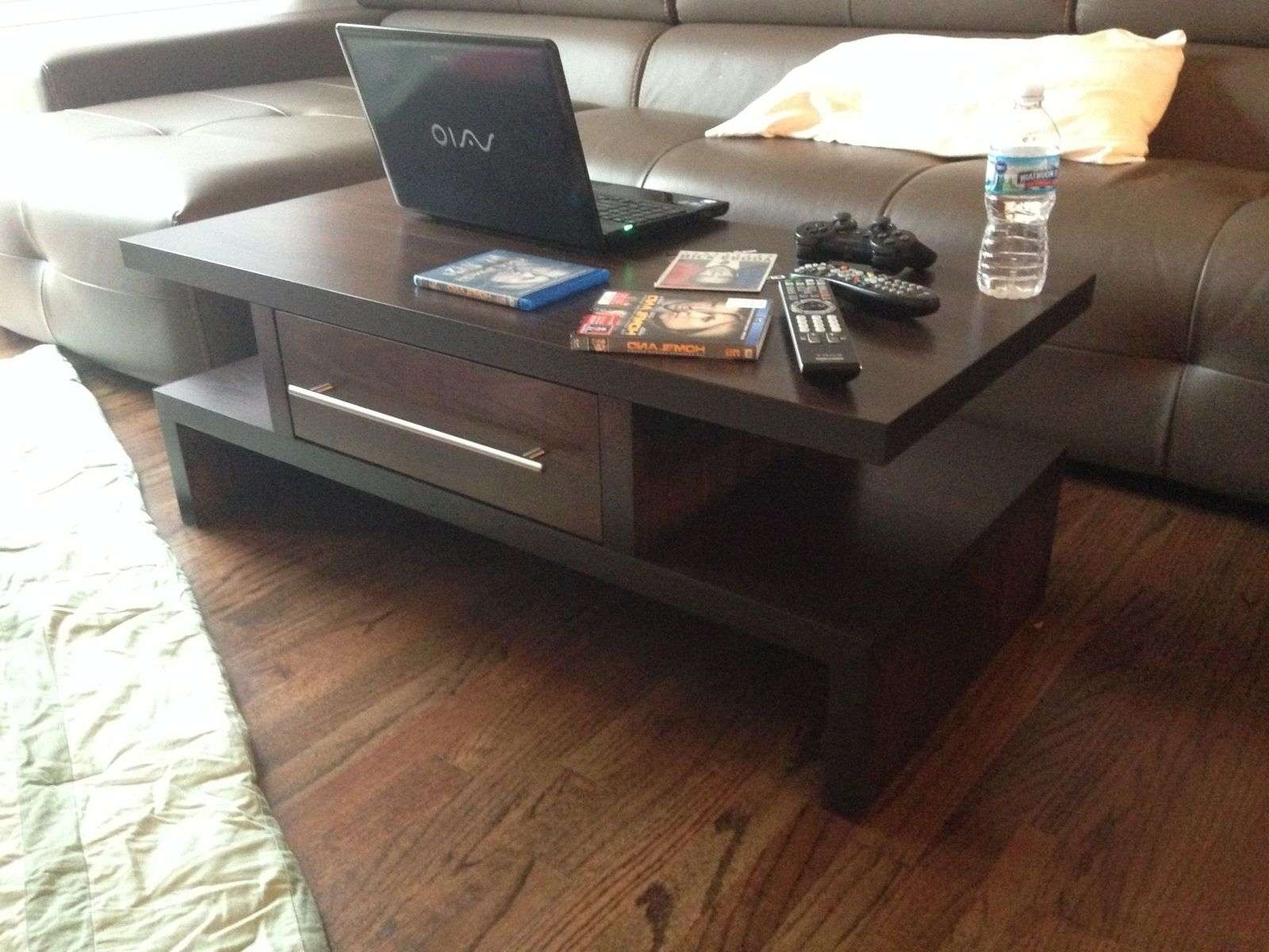 Custom Made Java (espresso) Coffee Table W/drawersmad Custom With Regard To Most Up To Date Espresso Coffee Tables (View 7 of 20)